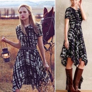 Anthro Corey Lynn Calter Painted Plaid Dress